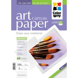 Photo paper CW ART Cotton Canvas 380g/m², A4, 5pc.  (PCN380005A4)