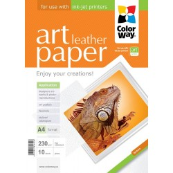 "Photo paper CW ART glossy texture ""leather"" 230g/m², A4, 10pc.  (PGA230010LA4)"