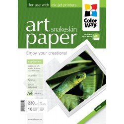 "Photo paper CW ART glossy texture ""snakeskin"" 230g/m², A4, 10pc.  (PGA230010PA4)"