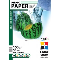 Photo paper CW dual-side high glossy 155g/m², A4, 50pc.  (PGD155050A4)