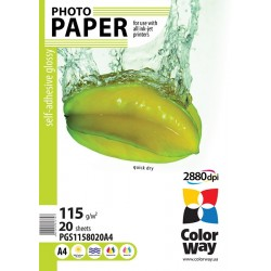 Photo paper CW glossy self-adhesive 115g/m², A4, 20pc.  (PGS1158020A4)