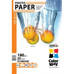 Photo paper CW high glossy 180g/m², 10х15, 20pc.  (PG1800204R)