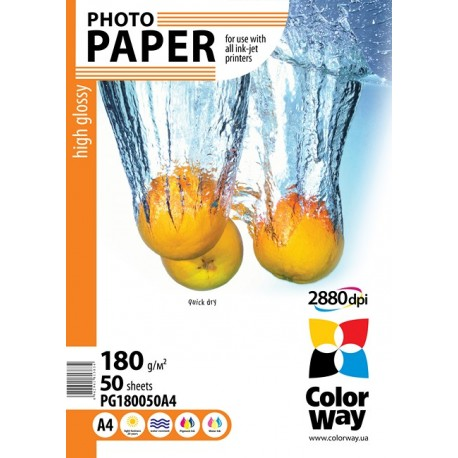 Photo paper CW high glossy 180g/m², A4, 50pc.  (PG180050A4)