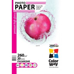 Photo paper CW premium high glossy 260g/m², 10х15, 20pc.  (PSG2600204R)