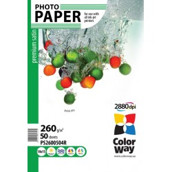 Photo paper CW premium satin 260g/m², 10х15, 50pc.  (PS2600504R)