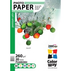 Photo paper CW premium satin 260g/m², A4, 20pc.  (PS260020A4)