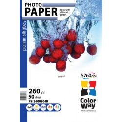 Photo paper CW premium silk glossy 260g/m², 10х15, 50pc.  (PSI2600504R)